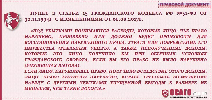 п.2 статья 15 ГК РФ №51-ФЗ